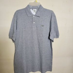 Lacoste Grey Polo Shirt Size 6 Large New